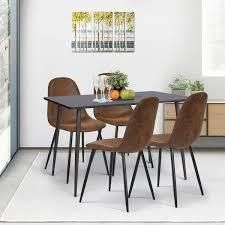 Four lafsekulla Faux Suede Dining Chairs