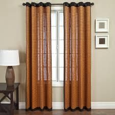 Softline Evergreen Brown Bamboo Curtain Panel  Single Panel  Retail 91 49