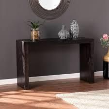 Black Reclaimed Wood Console Table