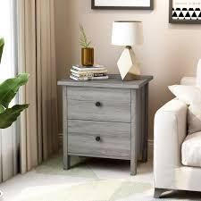Furniture of America Marcello Wood Contemporary 2 Drawer Nightstand