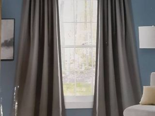 Grey Insulated Blackout Curtain Panels
