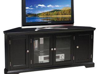 Slate Black Hardwood 60 inch Corner TV Console Retail 489 99 SEE PHOTOS