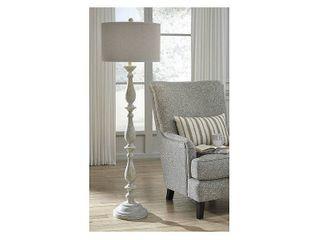Bernadate Whitewash 62in Floor lamp