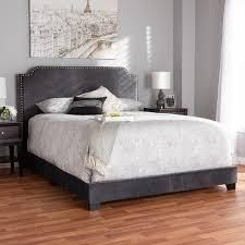 Charcoal Full Contemporary Bed by Baxton Studio Retail 189 49