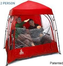 CoverU Sports Shelter Red 2 People