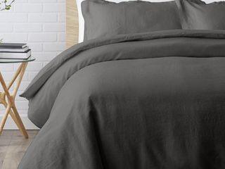 Echelon Home Washed Belgian Duvet Set