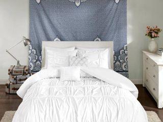 5pc Full Queen Rory Comforter Set White