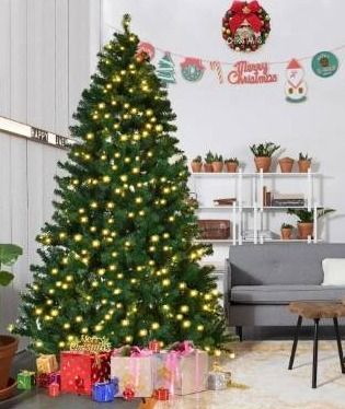 Pre lit PVC Artificial Christmas Tree with Hinged lED lights  Retail 119 99