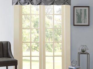 Set of 8 Hudson Pintuck Window Curtain Valance  12 x60  Grey