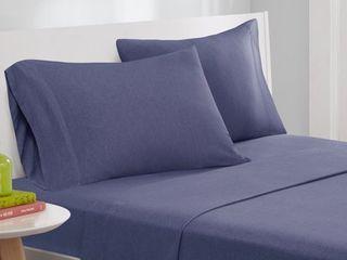 Twin Xl   Navy  Porch   Den Denver Jersey Knit Bed Sheet Set