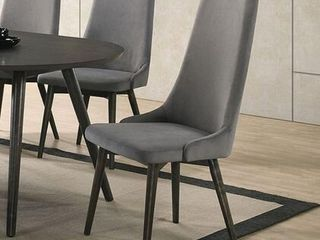 Aniya I Collection CM3781SC 2PK 19  Side Chair  2 ctn  with Mid Century Modern Style Padded Fabric Seat and Back in Dark