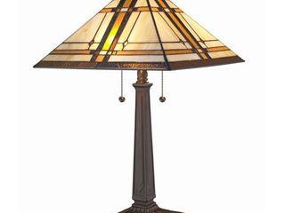 Amora lighting AM1053Tl14 Dark Brown 2 light 22 1 2  Tall Buffet Table lamp