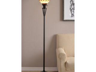Harmond Bronze Tiffany Torchiere lamp