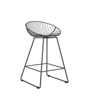 Ellis Wire Counter Height Barstool Gray   Cosmoliving by Cosmopolitan