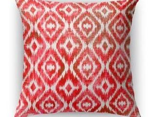 Set of 2 26X26  Kavka Designs red  pink omari warm pink accent pillow with insert