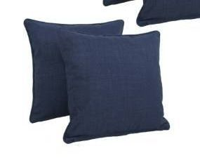 Azul  Blazing Needles 18 inch All Weather Throw Pillows  Set of 2