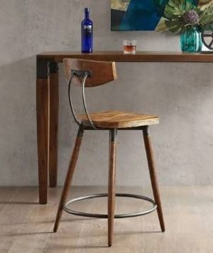 Carbon loft Magie Brown Counter Stool 24 inch With Back  Retail 141 99