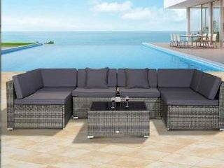 Siara 7 piece Modern Rattan Wicker Modular Sectional Patio Set by Havenside Home   Retail 679 99