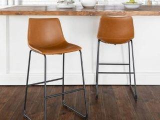 Carbon loft Prusiner Faux leather Bar Stool  Set of 2    Retail 186 49