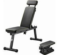 Black Red  Zenova Extra long Foldable Weight Bench With Adjustable Backrest