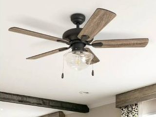 Carbon loft Haskell inch Coastal Indoor lED Ceiling Fan with Remote Control   42  Retail 186 99