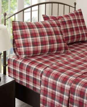 Woolrich Cotton Flannel 4 Piece Queen Sheet Set