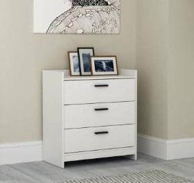 White   3 drawer  Central Park Dresser  Retail 146 99