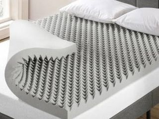 4 Inch Egg Crate Memory Foam Topper with Bamboo Charcoal Infusion King