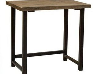 Carbon loft lawrence Metal and Solid Wood Desk  Retail 207 57