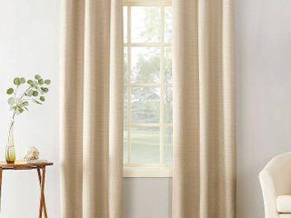 Set of 2 Sun Zero Cooper Textured Thermal lined Room Darkening Energy Efficient Grommet Curtain Panel