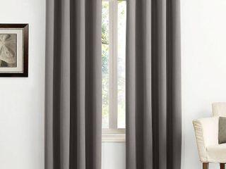 Set of 2 63 x54  Kenneth Energy Saving Blackout Grommet Top Curtain Panel Charcoal   Sun Zero