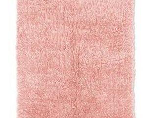 linon Flokati Heavy Natural Rug   2 4  x 4 3    Pastel Pink