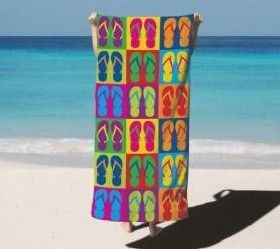 Arkwright Beach Towel   100  Soft Velour Cotton   Beach Prints   30 x 60 in