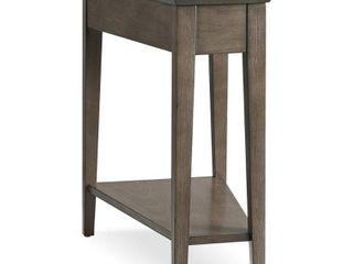 leick Home Favorite Finds 24 in  Smoke Gray Solid Wood Recliner Wedge Table