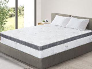 Sleeplanner 12 inch Hybrid Memory Foam Innerspring Mattress  Retail 302 99