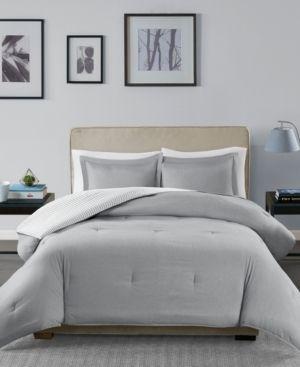 Gray Braydon Reversible Stripe Comforter Mini Set Twin