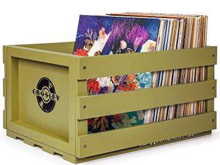 Crosley Record Storage Crate   Sage