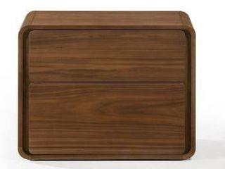 Brown  Modrest Dustin Modern Walnut Nightstand  Retail 277 49