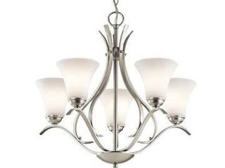 Copper Grove Braeview 5 light lED Brushed Nickel Chandelier Retail 227 99