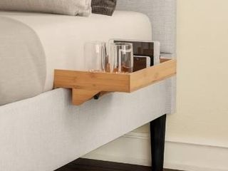 Bedside Shelf  Eco friendly Bamboo Modern Clamp on Floating Tray by lavish Home