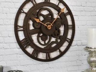 Bronze   1 5 x 14 x 14 in  FirsTime   Co  Mill Gears Wall Clock  Plastic  1 5 x 14 x 14 in  American Designed   1 5 x 14 x 14 in