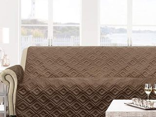 68  width x 80   length   Brown  DriftAway Marley 100  Waterproof Quilted Machine Washable Sofa Furniture Protector
