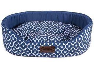 36x27x10    lattice Navy   large  DII Bolster Pet Bed