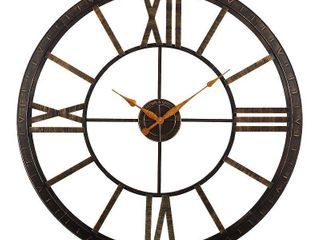 Oil Rubbed Bronze  FirsTime   Co  Big Time Wall Clock  Plastic  40 x 2 x 40 in  American Designed   40 x 2 x 40 in Retail 109 99