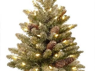 3  Snowy Concolor Fir Tree with Battery Operated lED lights