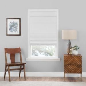 Cordless Roman Window Shade White  31 x64    Achim