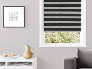 24 x84    Black  Taylor  Day   Night Roller Blinds