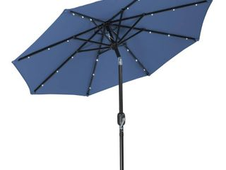 Blue   Patio   7 ft  Trademark Innovations Polyester 7 foot Solar lED Patio Umbrella Retail 86 49