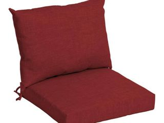 21 in l x 21 in W x 4 in H   Ruby leala Texture  Arden Selections Outdoor 21 x 21 in  Dining Chair Cushion  one cushion