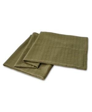 Twin   Forest Green  Superior All season luxurious Diamond Weave Cotton Blanket